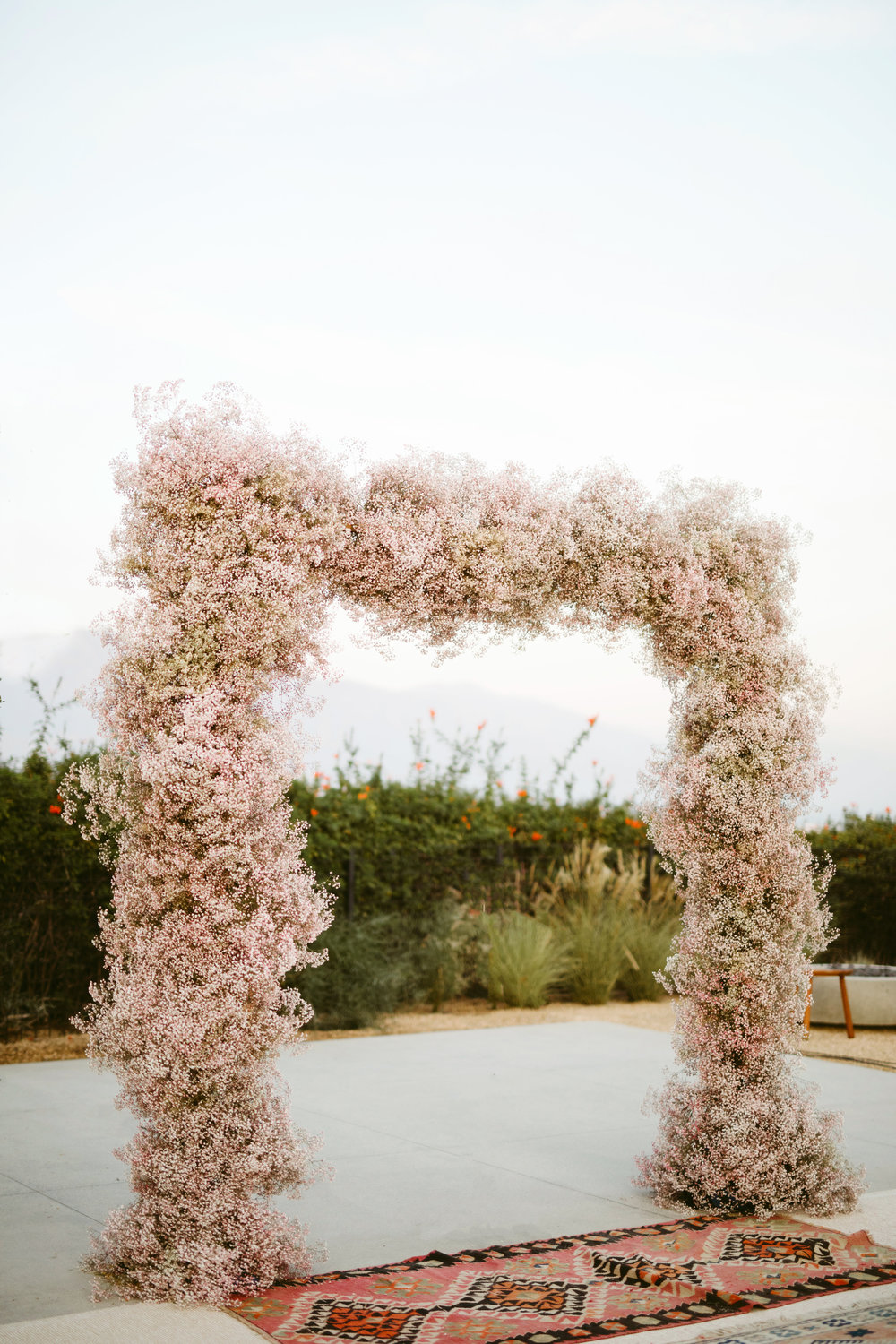 baby's breath installation