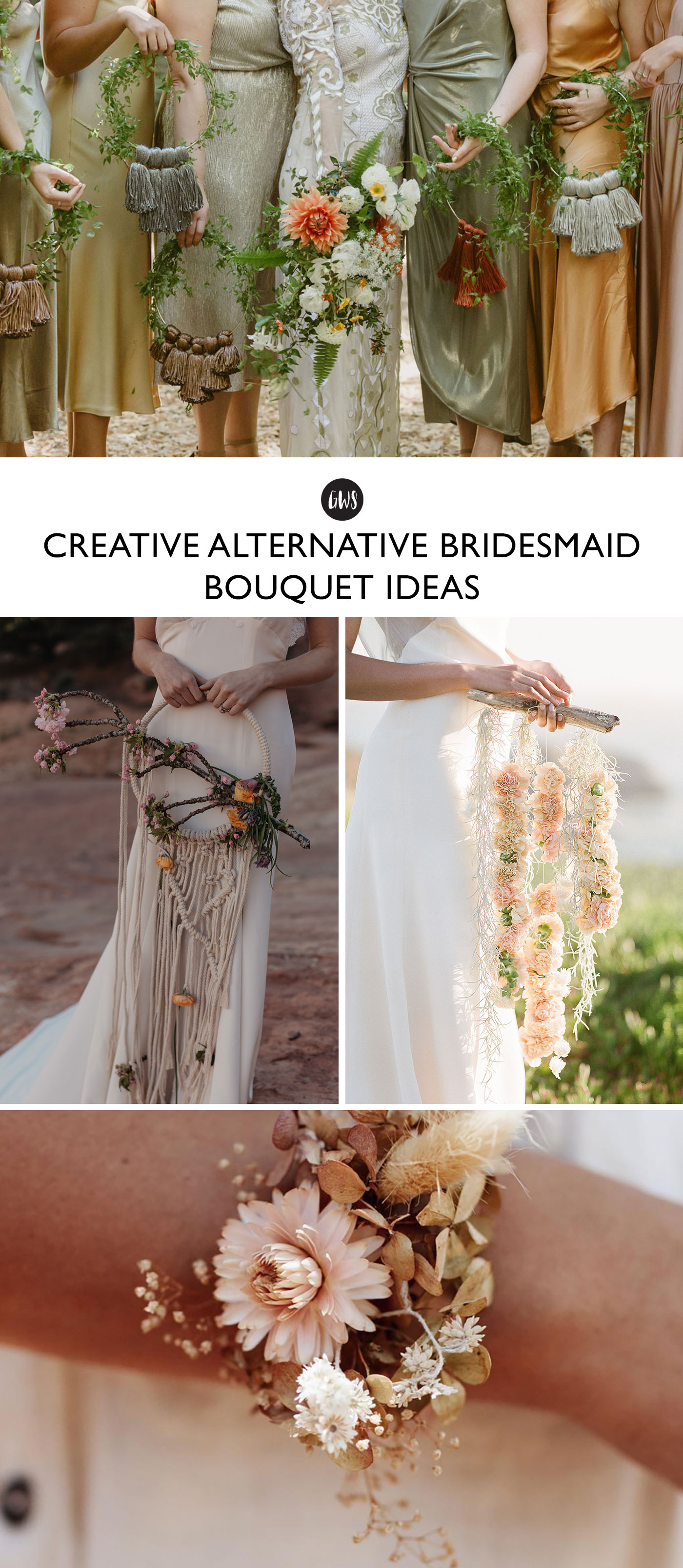 alternative bouquets ideas for bridesmaids