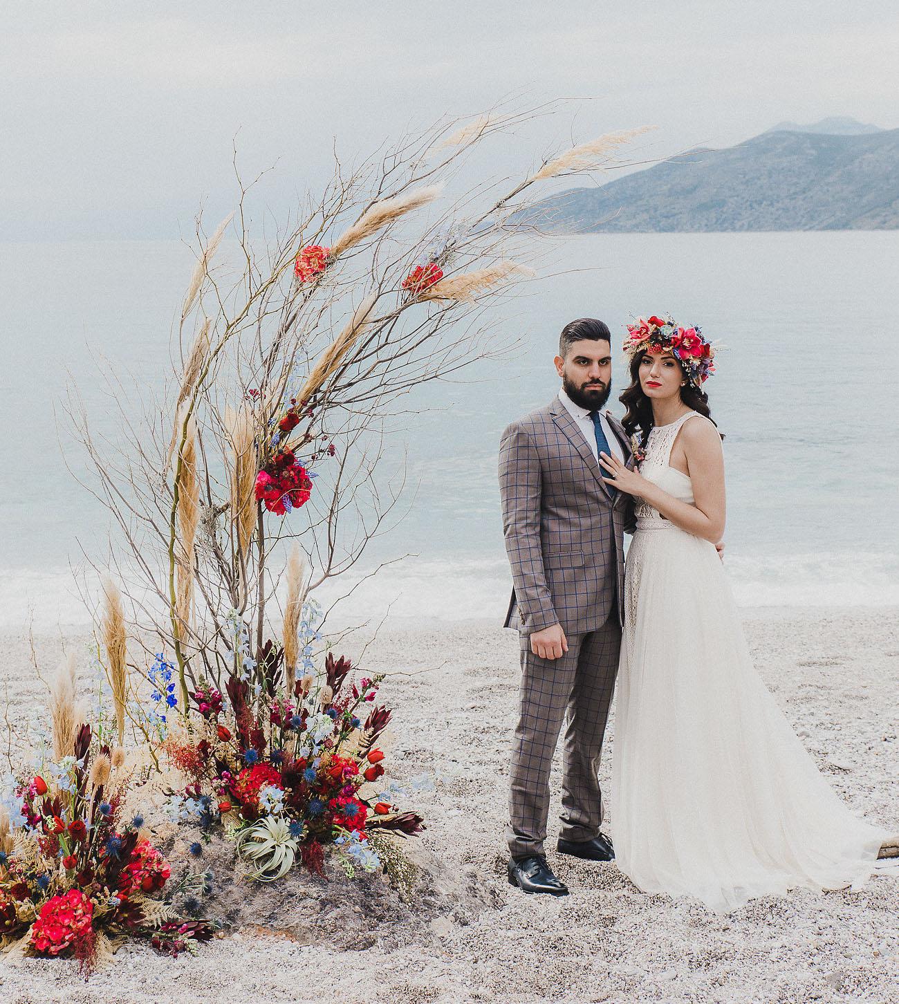 Boho Greece Wedding Inspiration