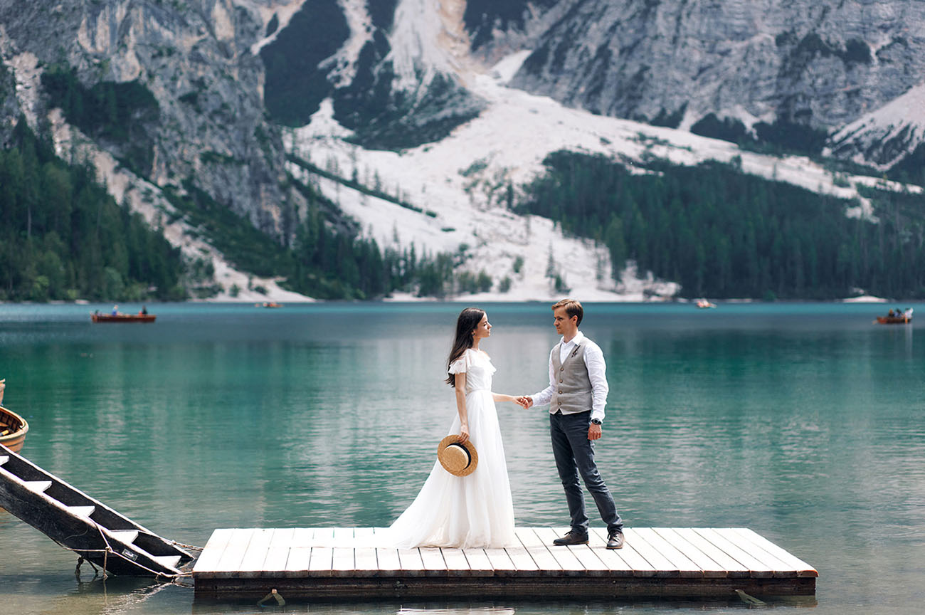 Darlings in the Dolomites: A Rustic Bohemian Wedding from the Mountains + Lakes of Italy