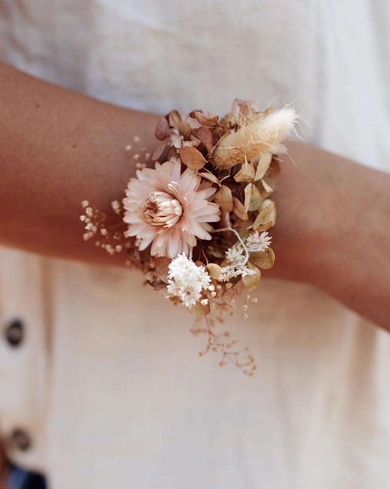 dried floral cuff