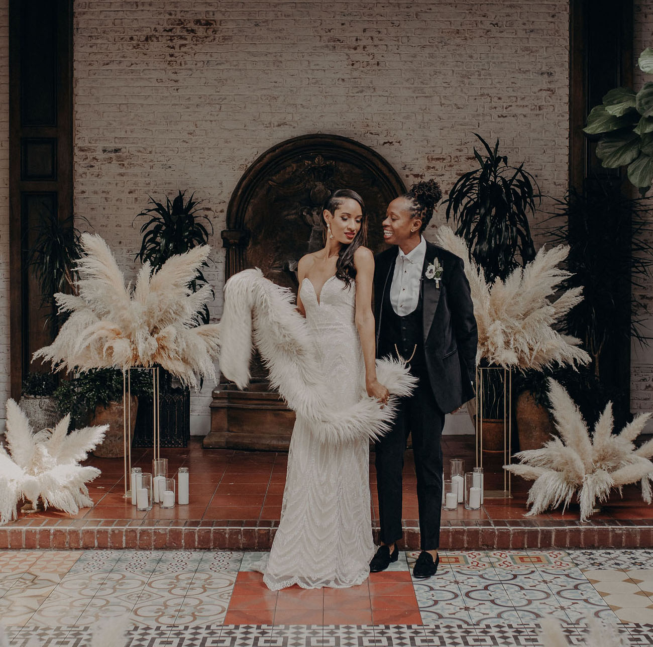 1920s Vintage Wedding Ideas: 1920s-Inspired Glamour Meets California Cool At This