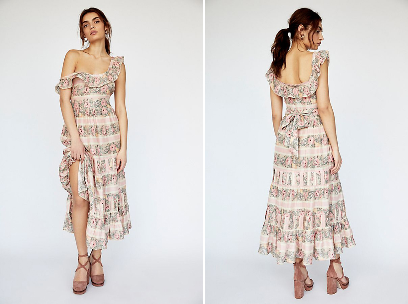 floral Free People Dress What to Wear to Spring Wedding