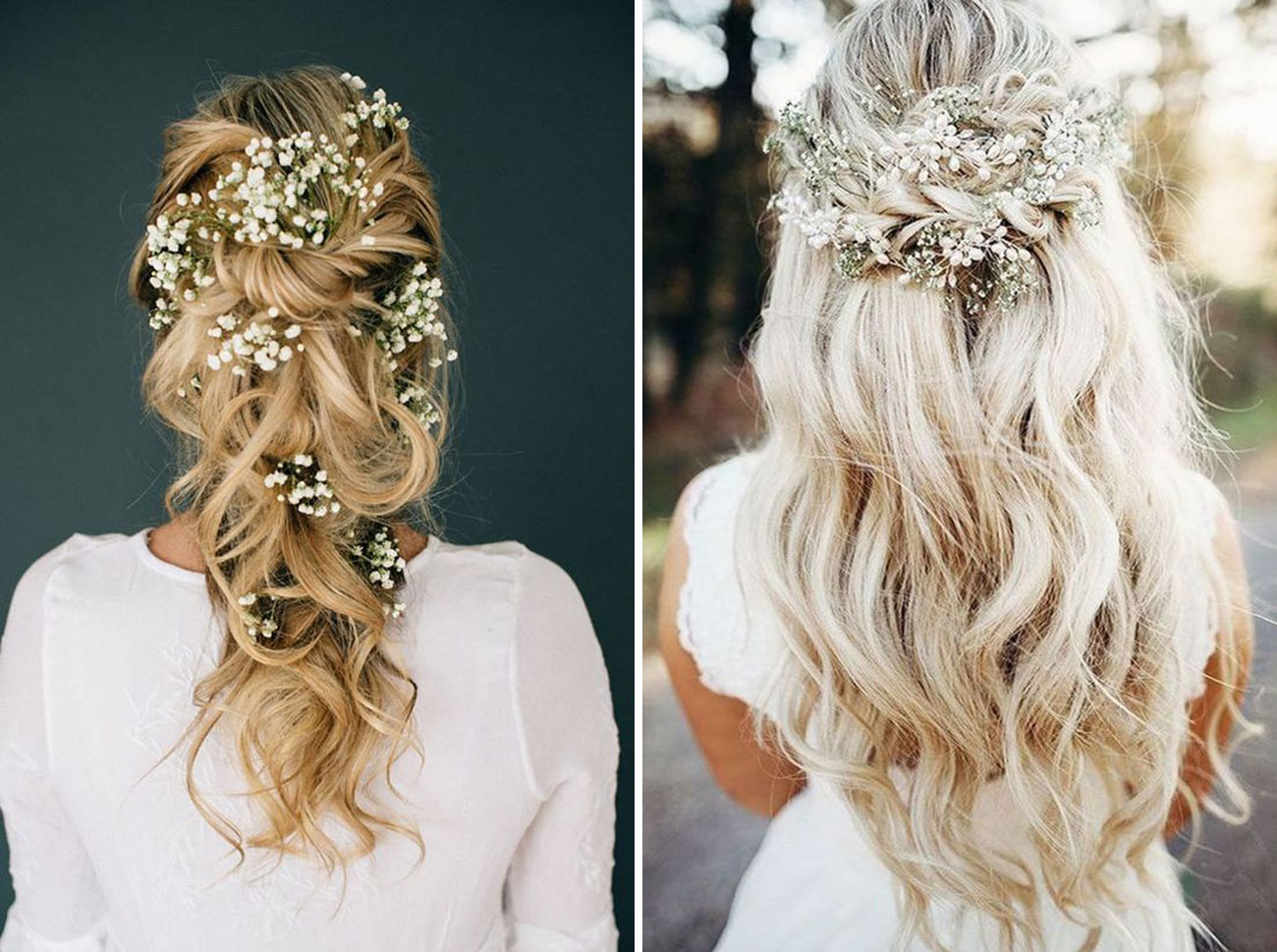 baby's breath wedding hair
