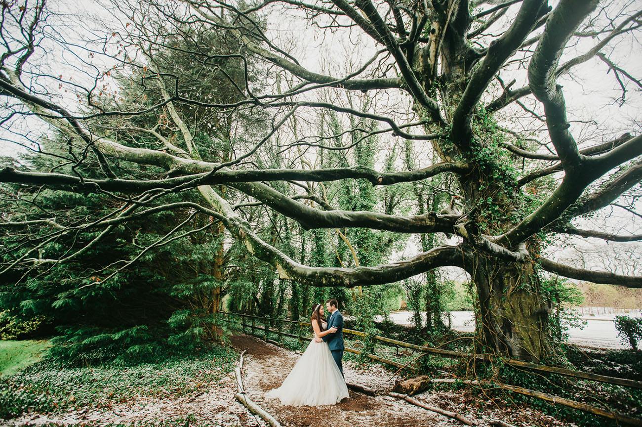 Winter Ireland Castle Elopement