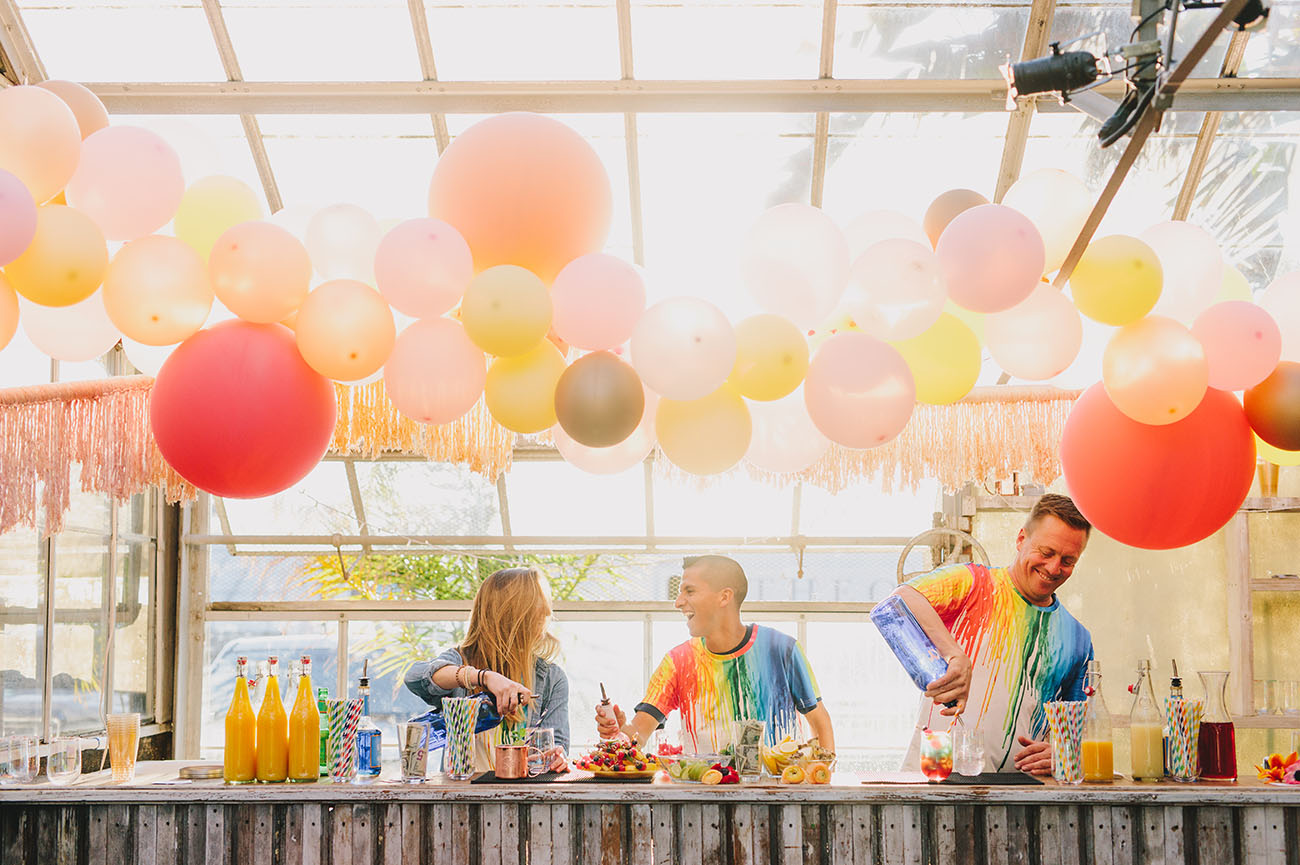 Rainbow Wedding Ideas from The Jam Event