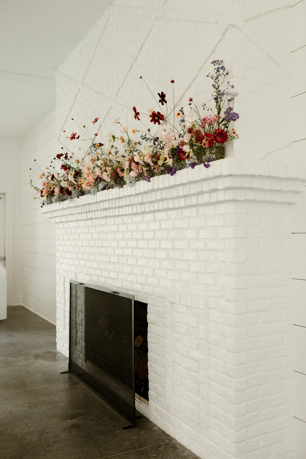 floral fireplace