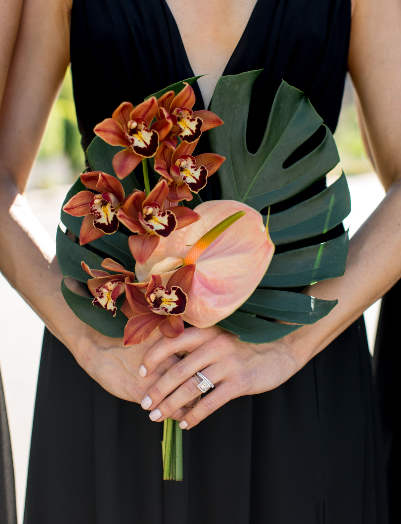 tropical bridesmaids bouquet