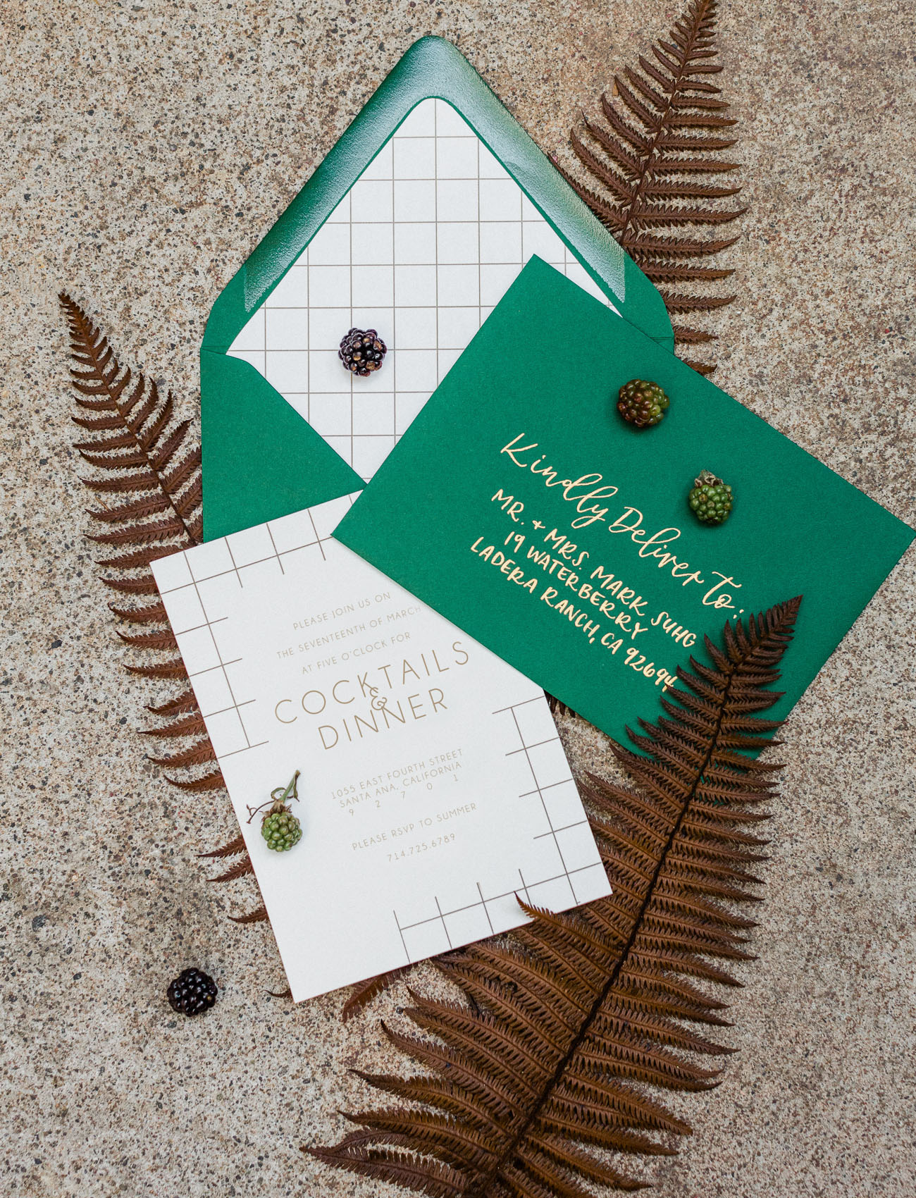 green envelope invitation