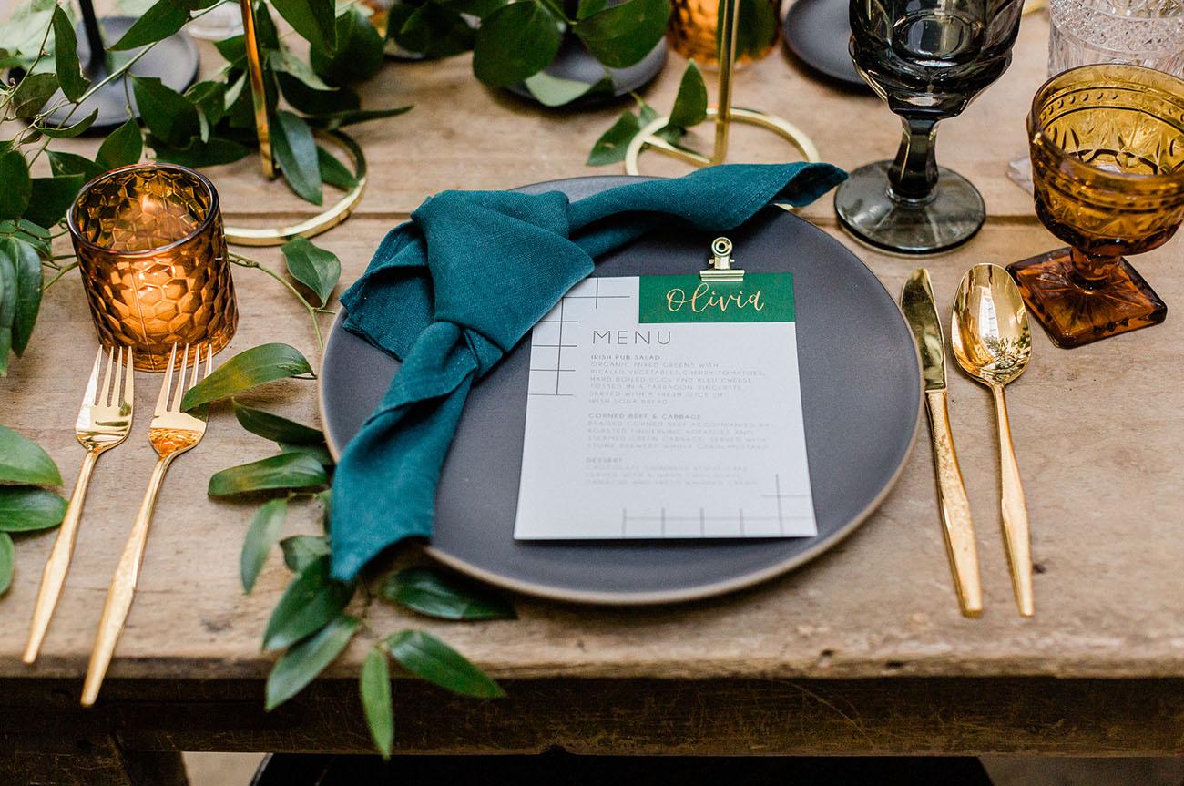 Modern St. Patrick Dinner Party