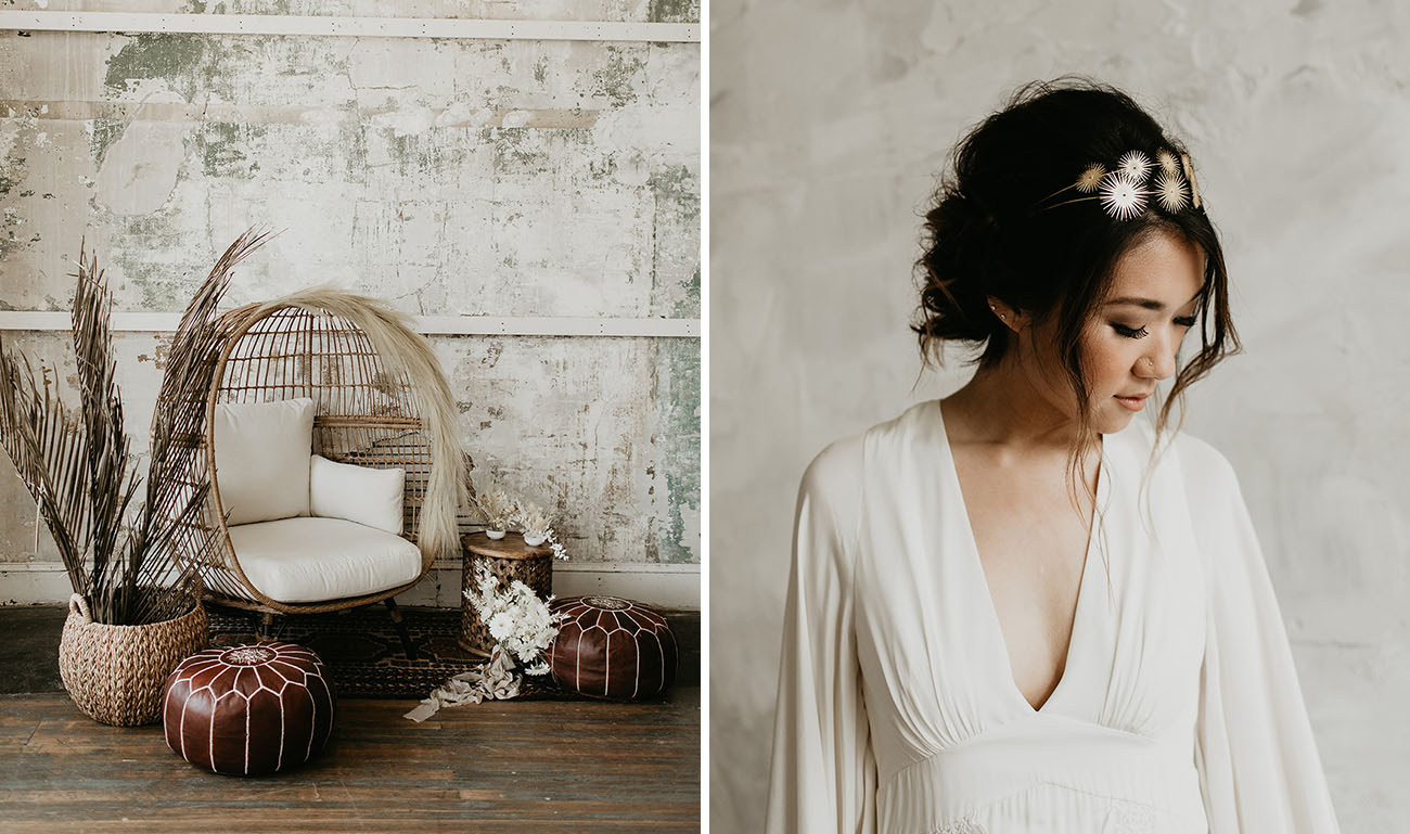 Monochrome Bohemian Wedding Inspiration