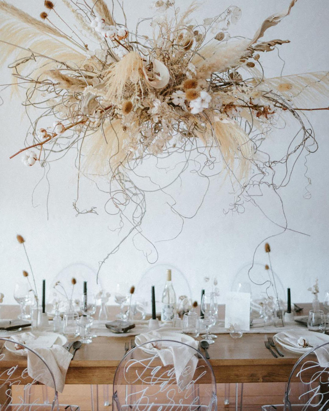 Pampas Grass Dried Floral Installation