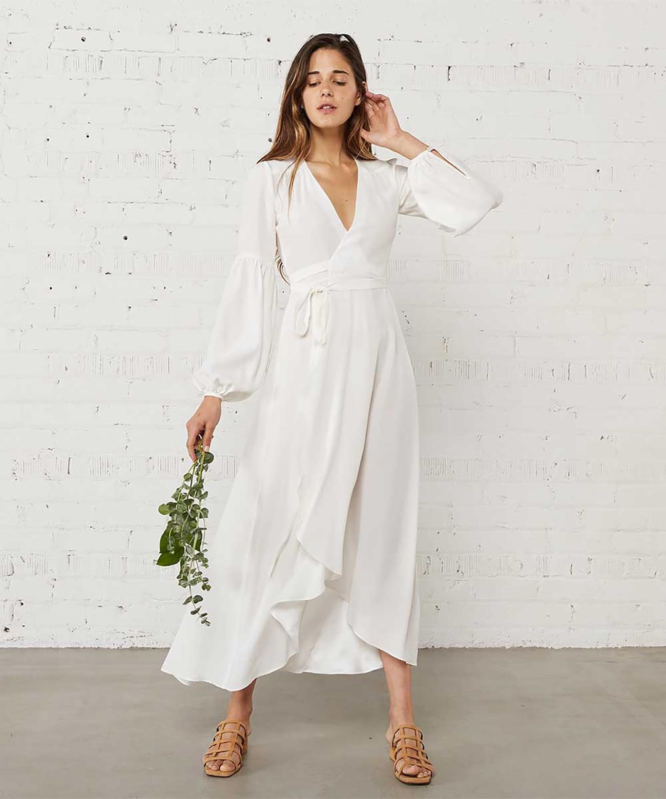 Christy Dawn Modern Minimalistic Wedding Dress Under $800 Budget