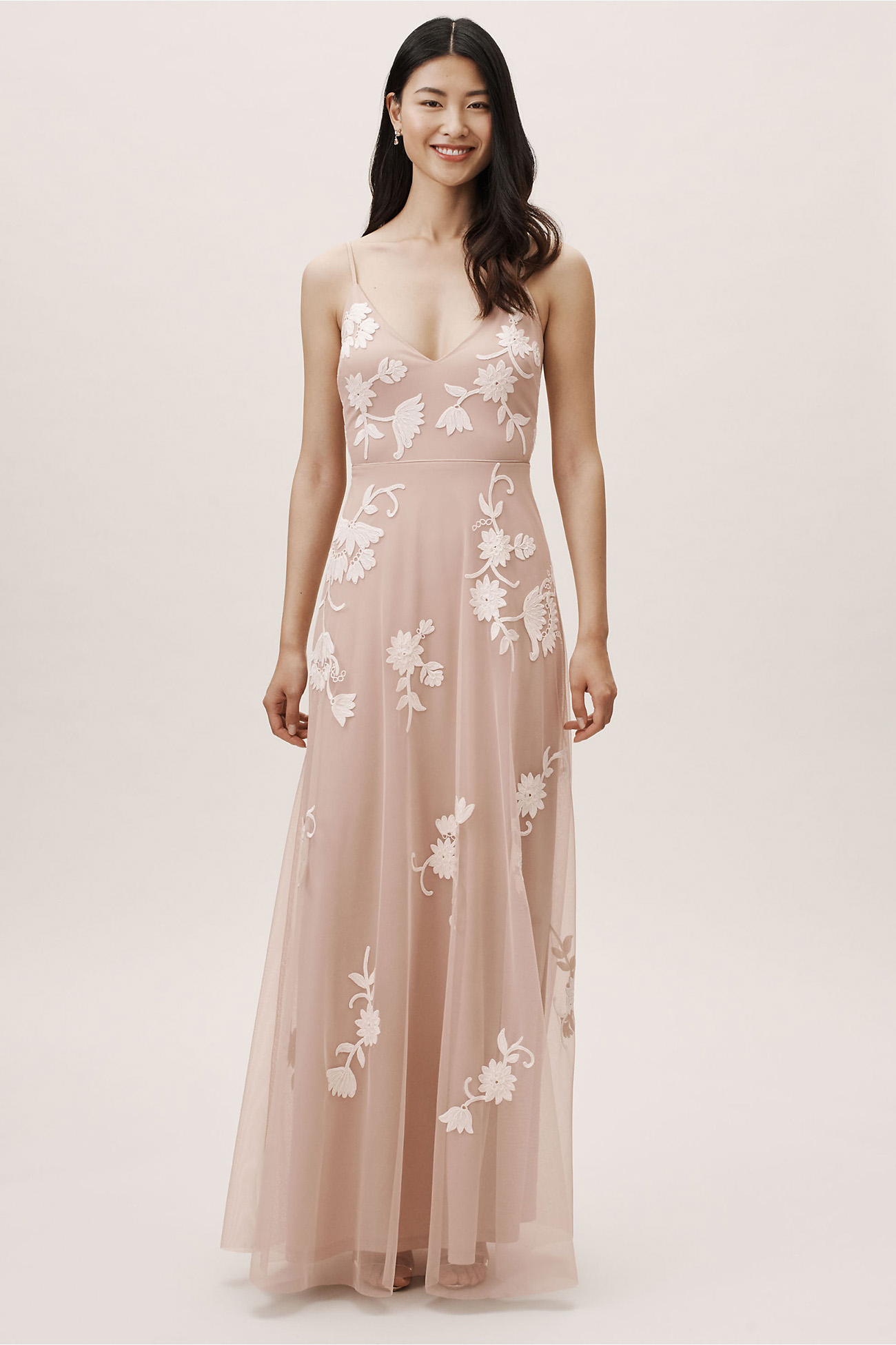 Bethany Bridesmaids Dress Blush from BHLDN