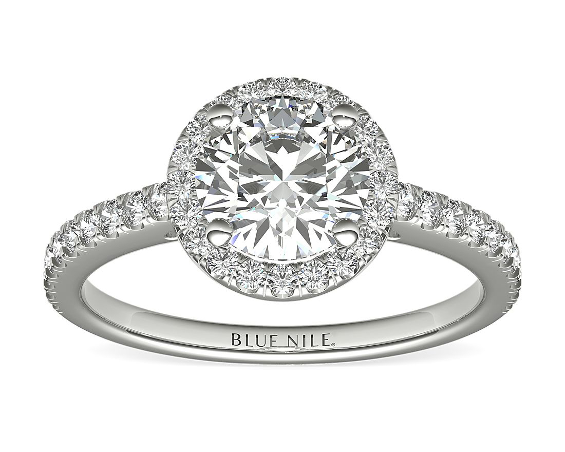 Classic Halo Lab-Grown Diamond Engagement Ring by Blue Nile