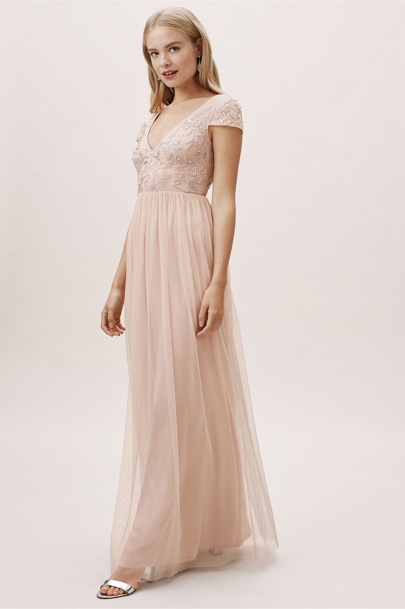 Diaz Bridesmaids Dress Blush from BHLDN