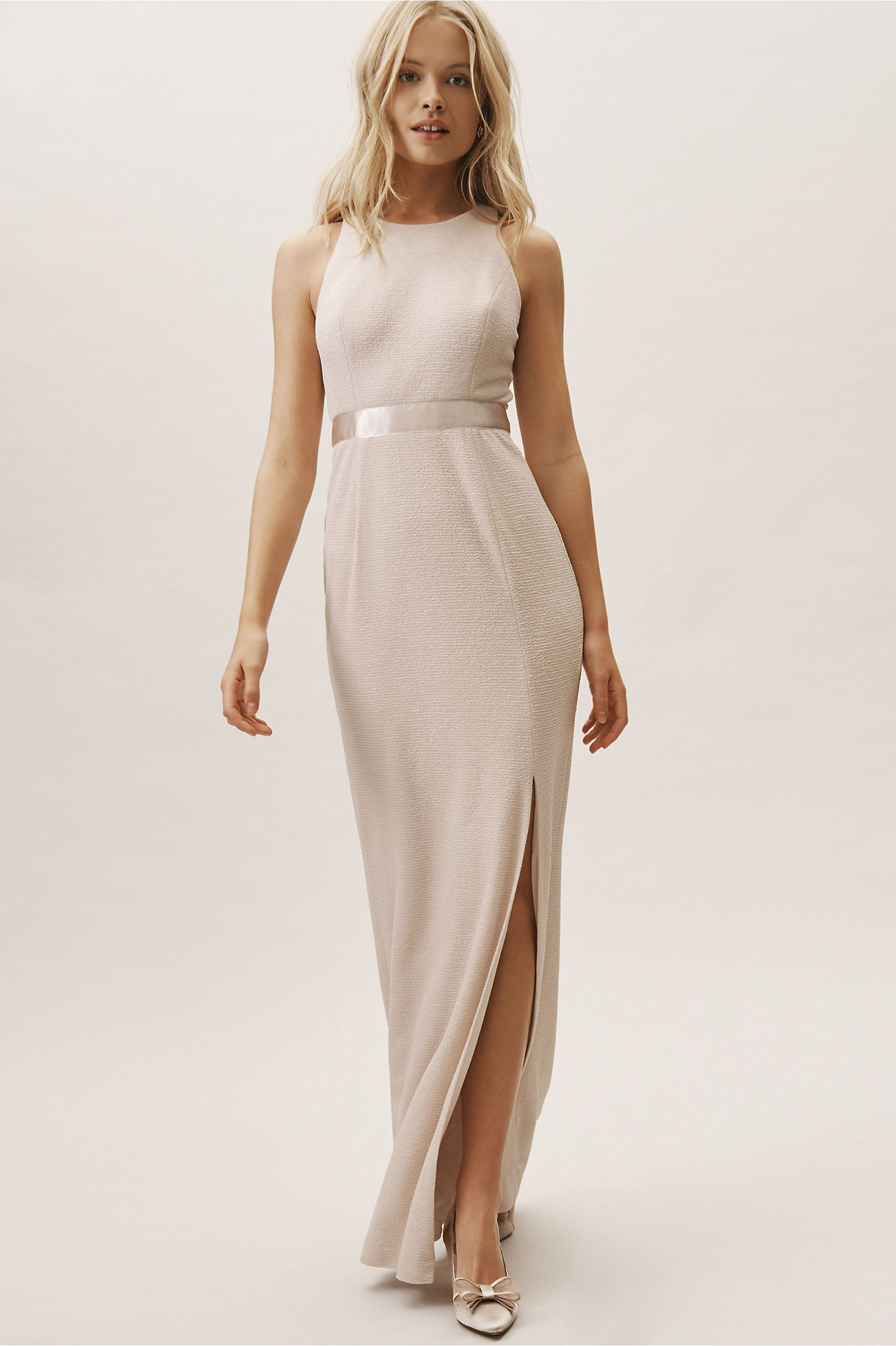 Idris Dress in Champagne