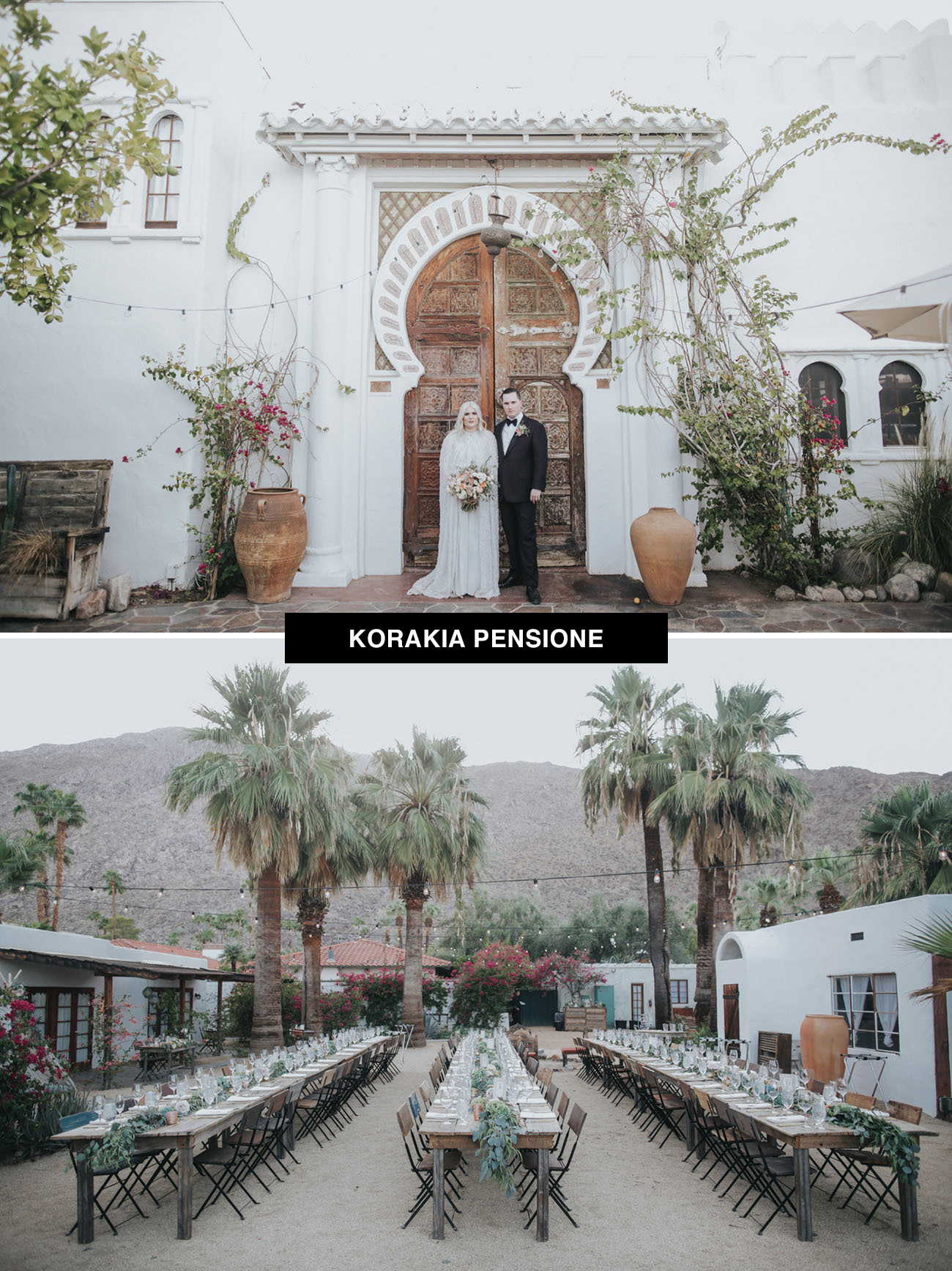 KoraKia Pensione wedding venue in Palm Springs, California with a Moroccan vibe