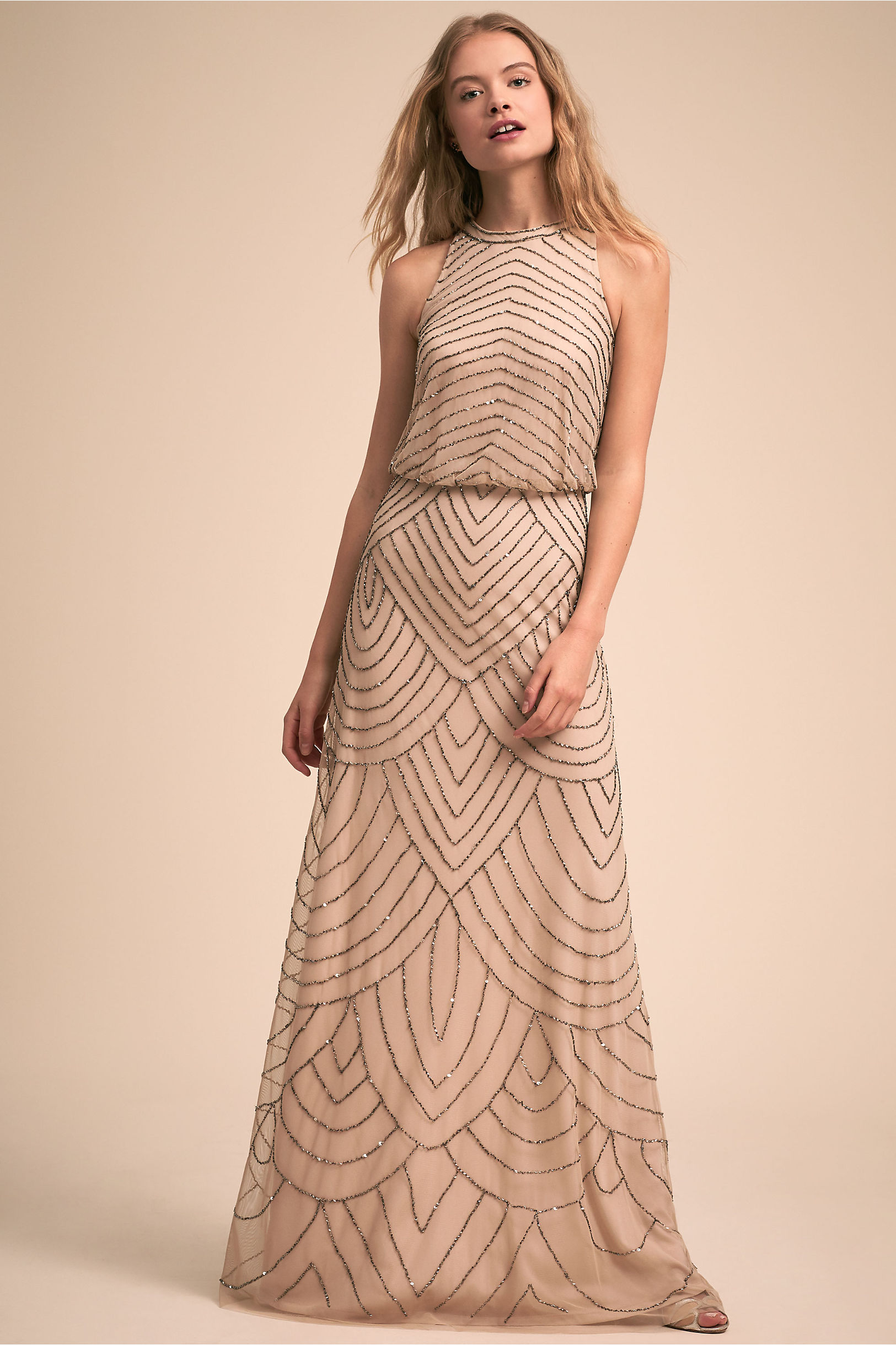 Madigan Dress in Nude