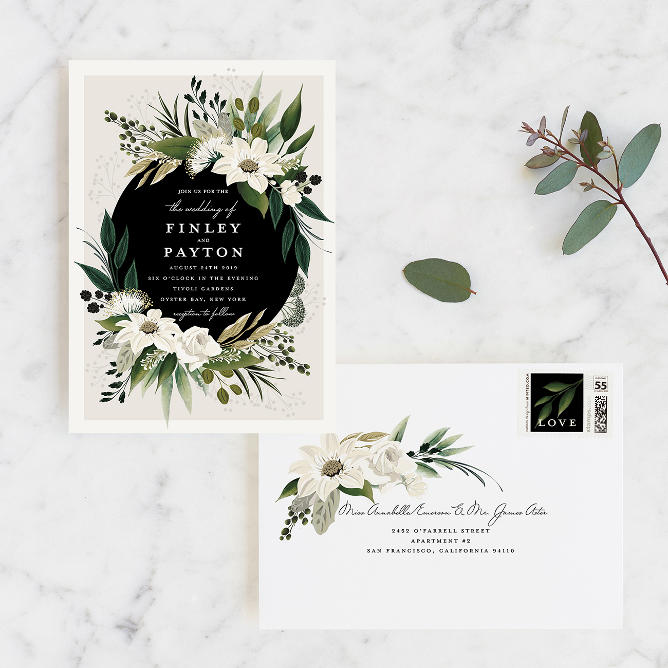 Minted Paper Goods Wedding Invitation Suite