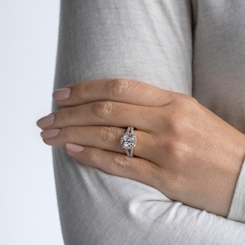 Palm Springs Cushion Cut Engagement Ring