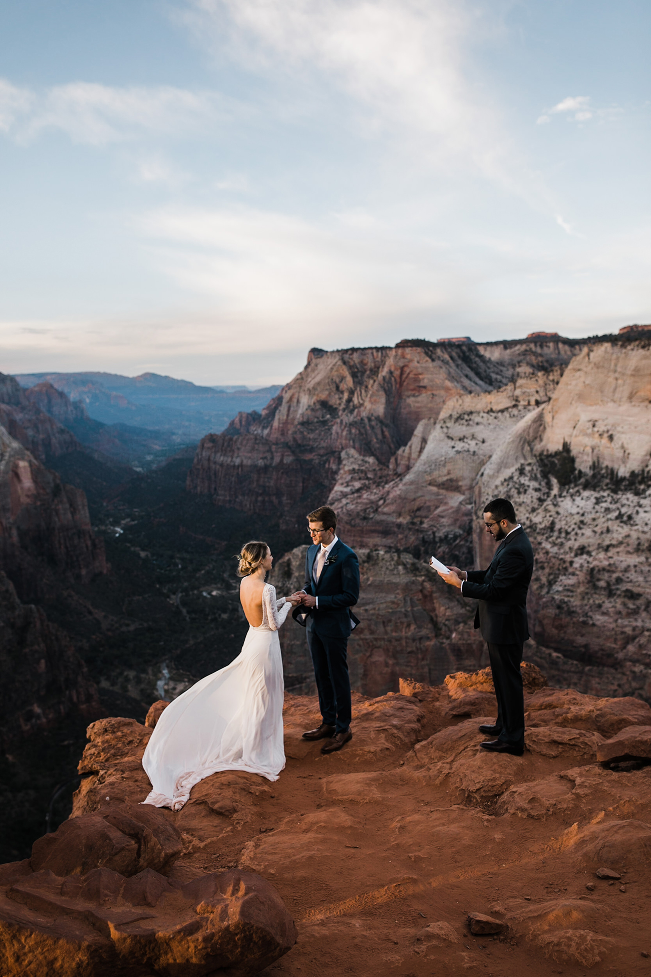 Zion National Park Elopement Wedding Adventure Hiking Hearnes Photography