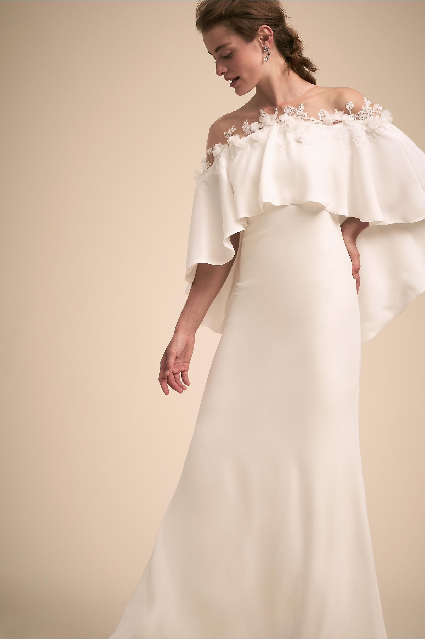 Capelet Athenia Wedding Dress TADASHI SHOJI