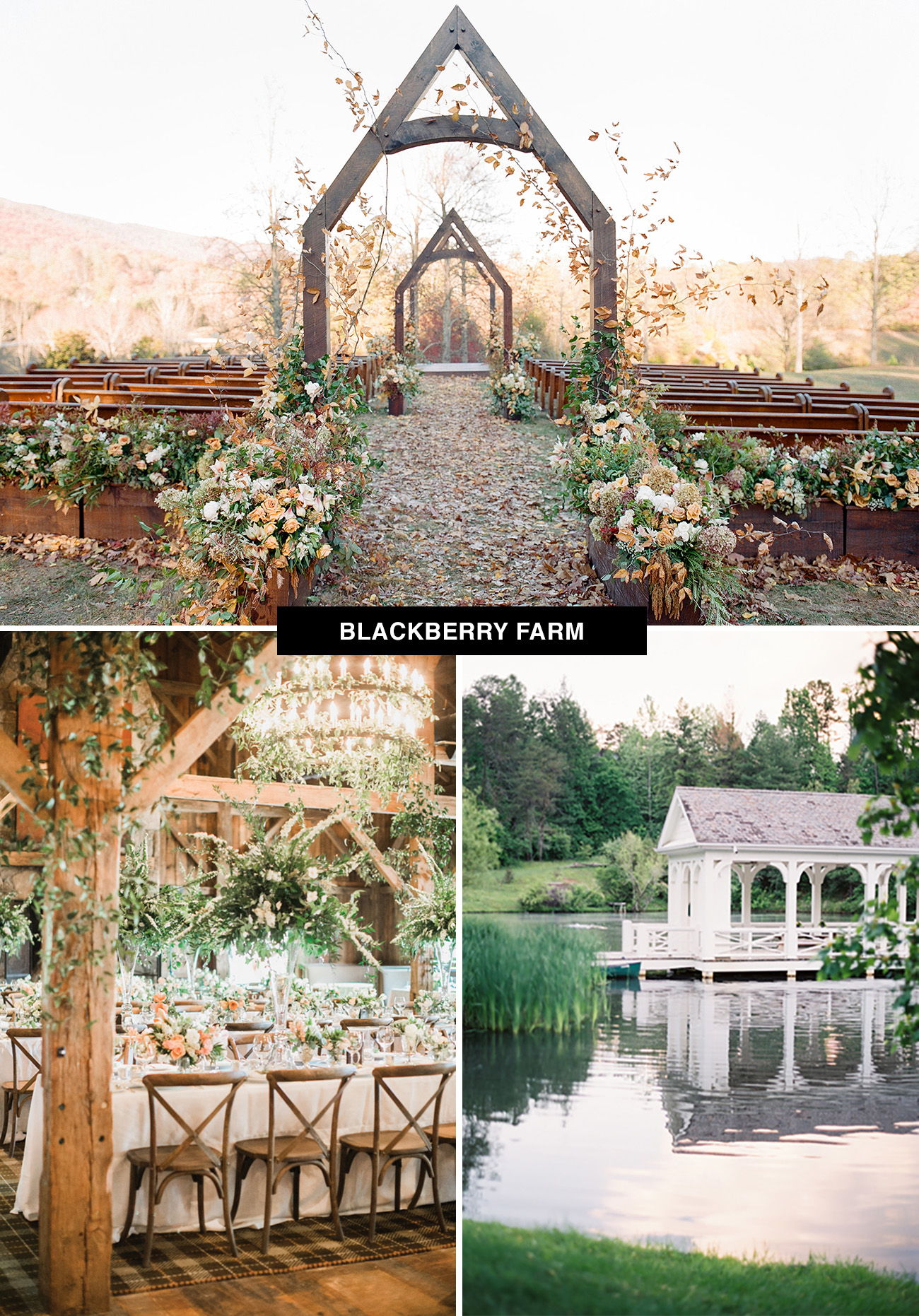 Blackberry Farm wedding venue in Tennessee would be a great place to get married in fall