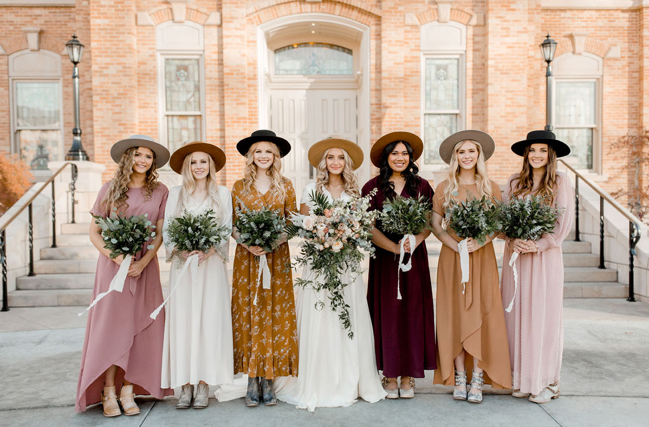 Bridal Party in Hats