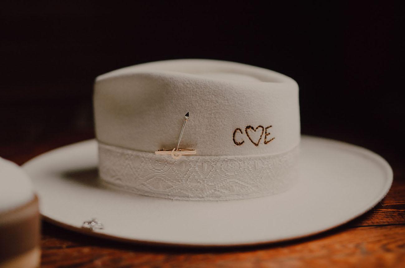 custom wedding hat