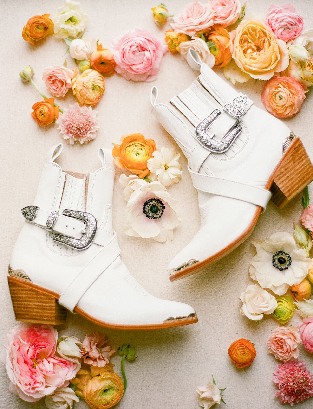white wedding boots