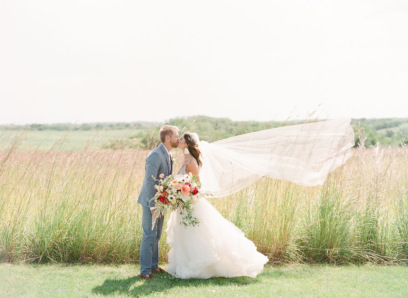 Boho Field Wedding in Iowa