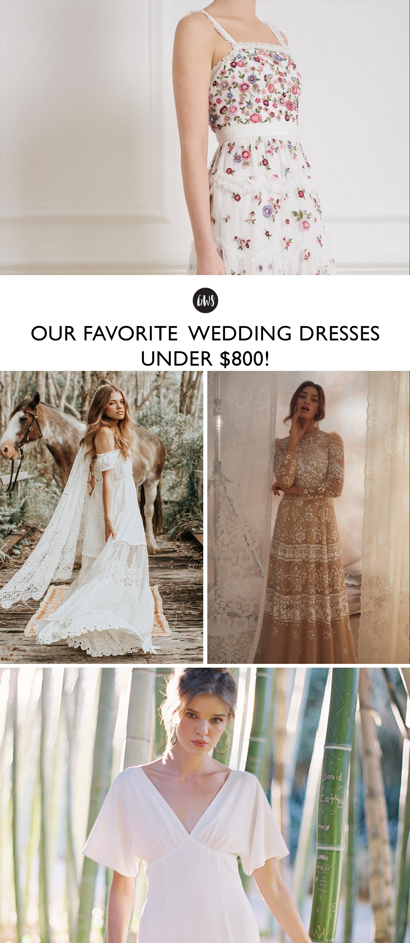 Favorite Wedding Dresses Under $800 Budget