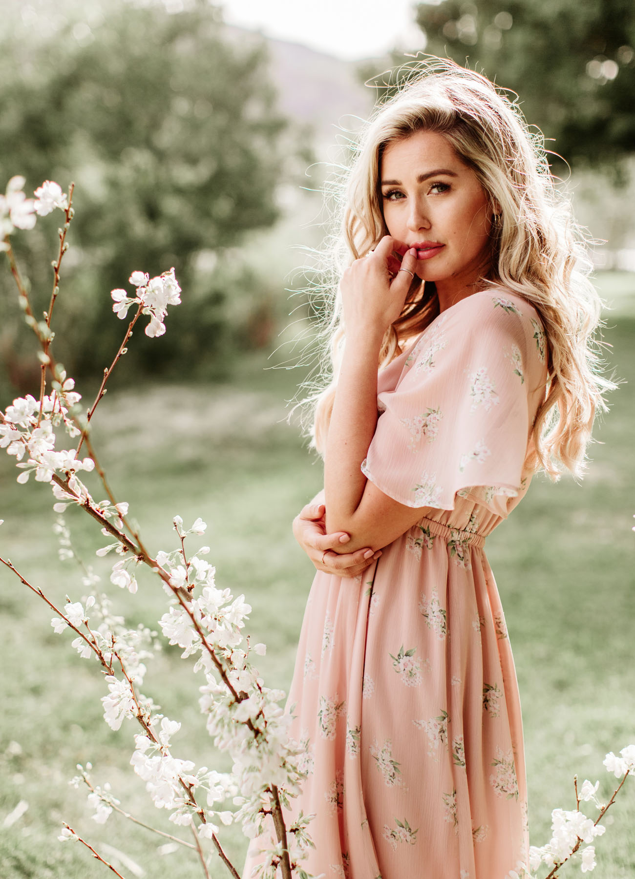 955c46f4abdc5 Emily Empire Maxi in GWSxMumu Blush Meadow. GWS x Show Me Your Mumu  Bridesmaids Collection
