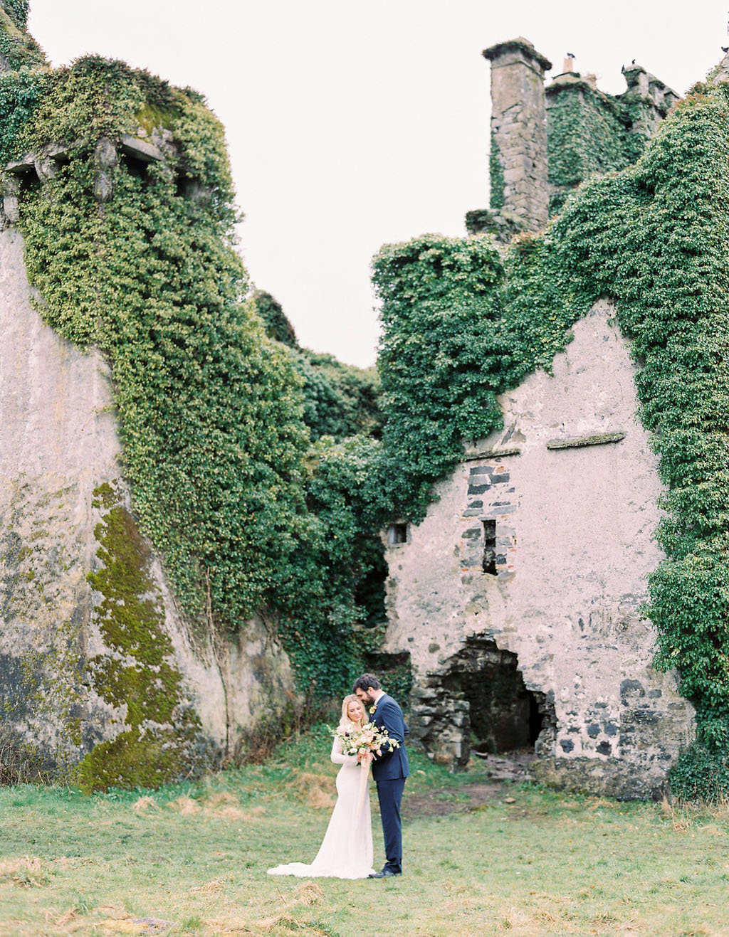 Ireland Styled Elopement Castle Ruins