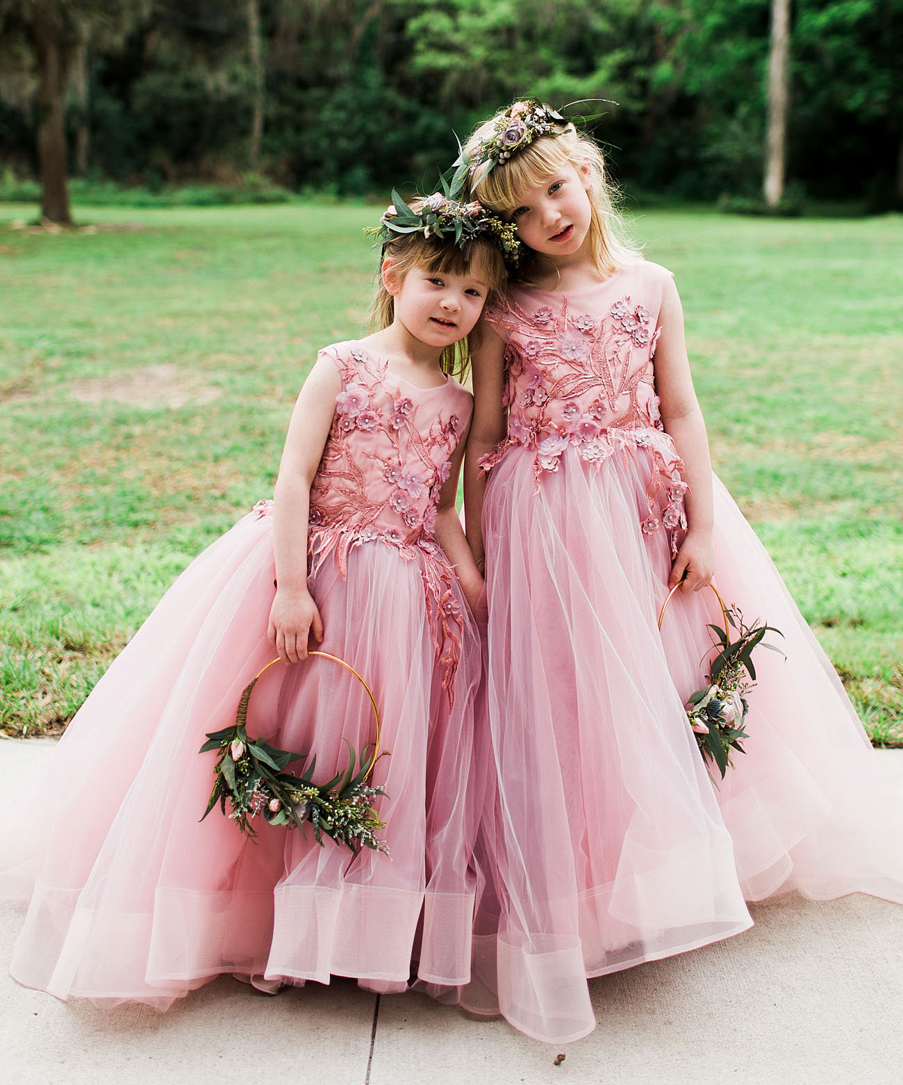 pink flower girls