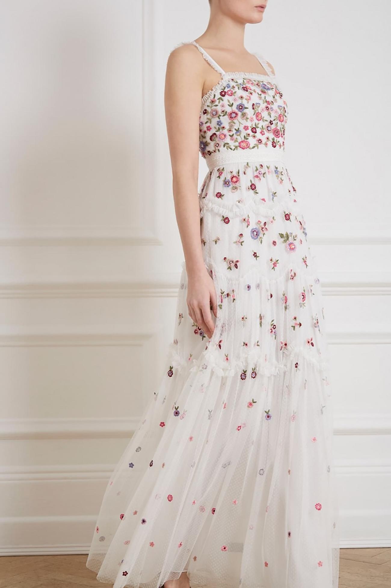 Floral Wedding Dress Under $800 Budget
