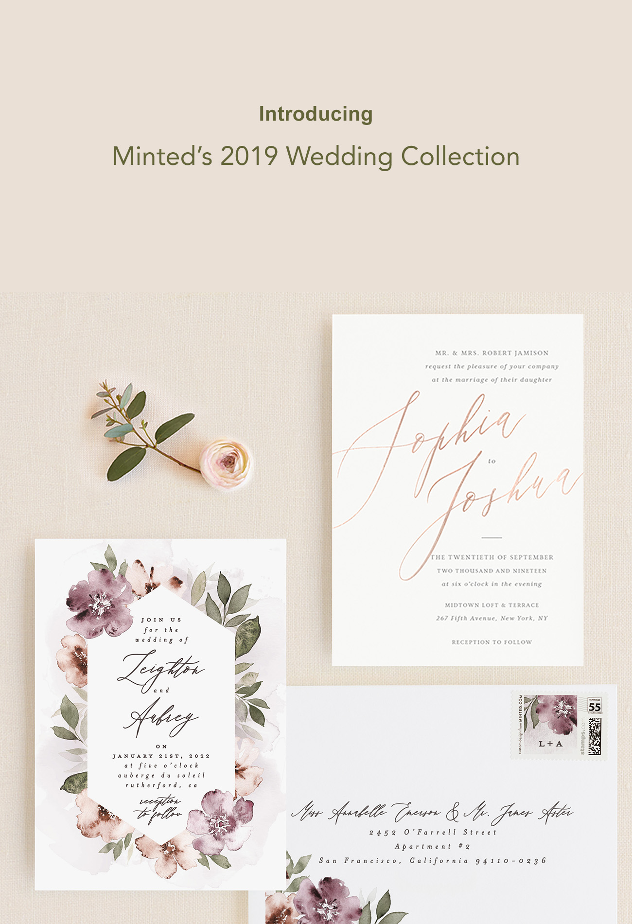 Minted 2019 Wedding Invitation Collection