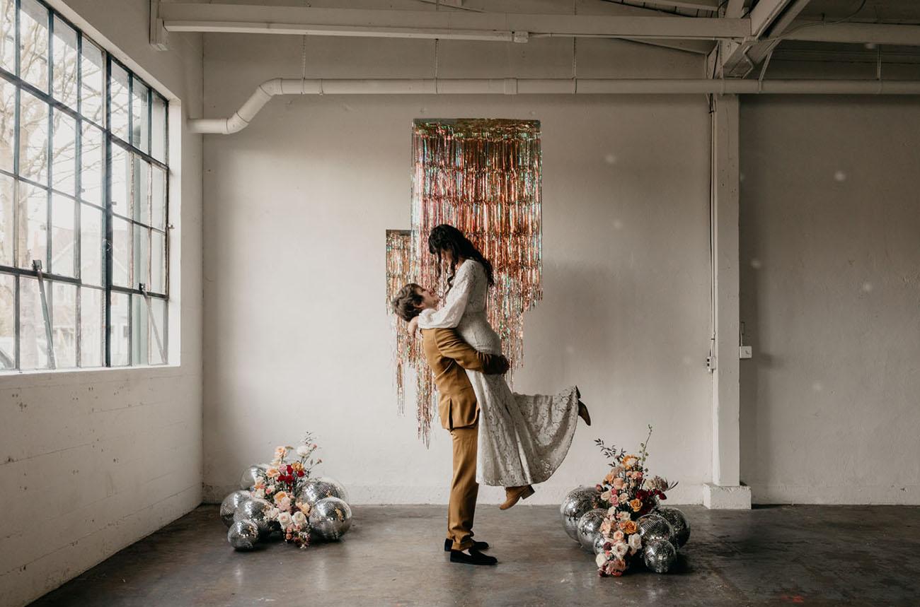 Modern Disco Wedding Inspiration
