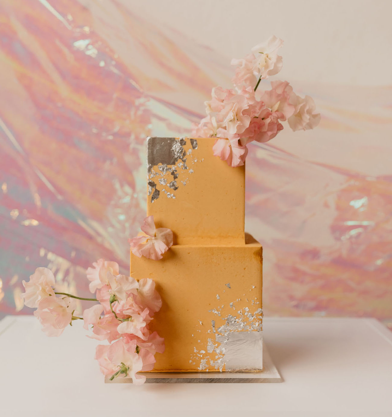 yellow disco cake