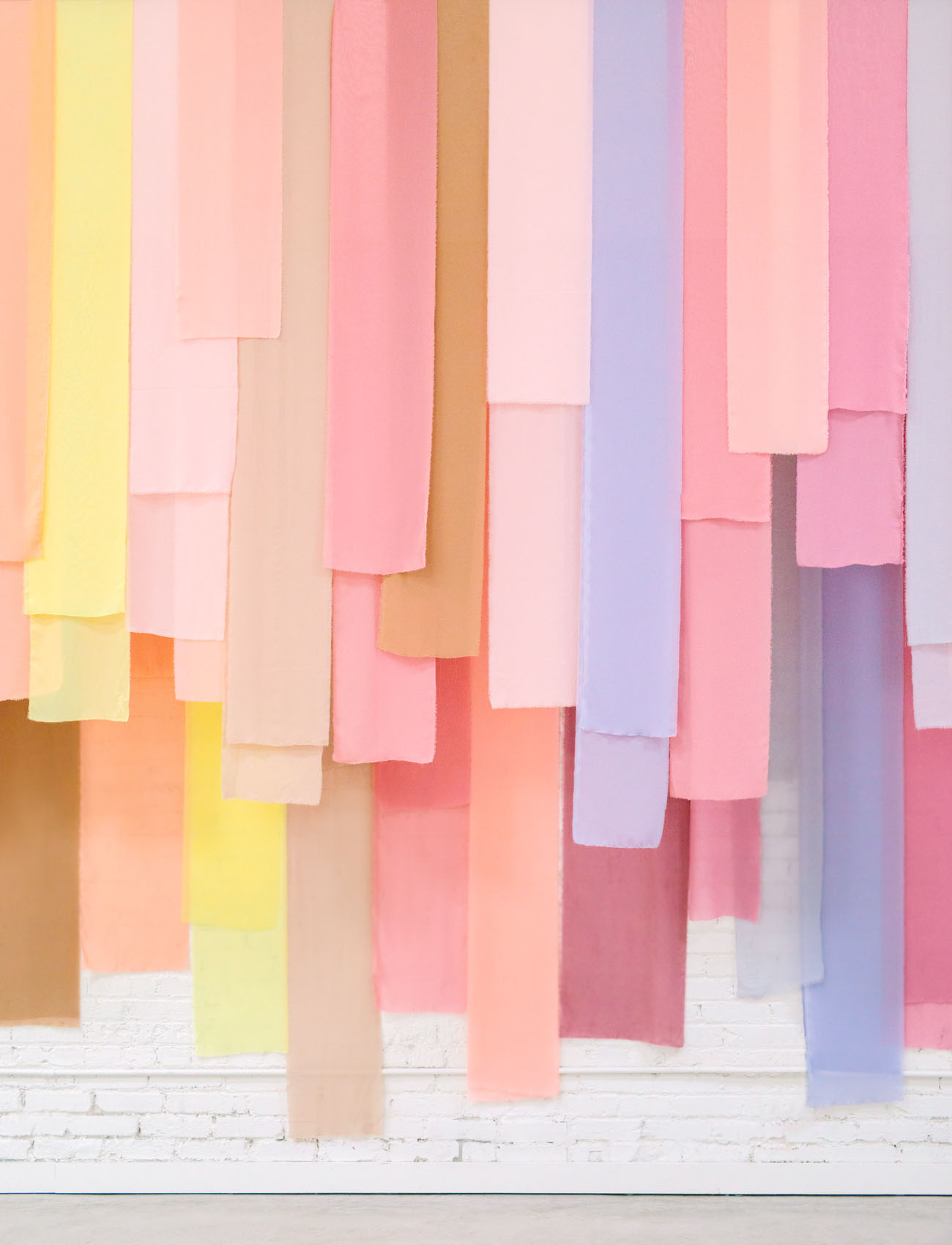 pastel fabric backdrop