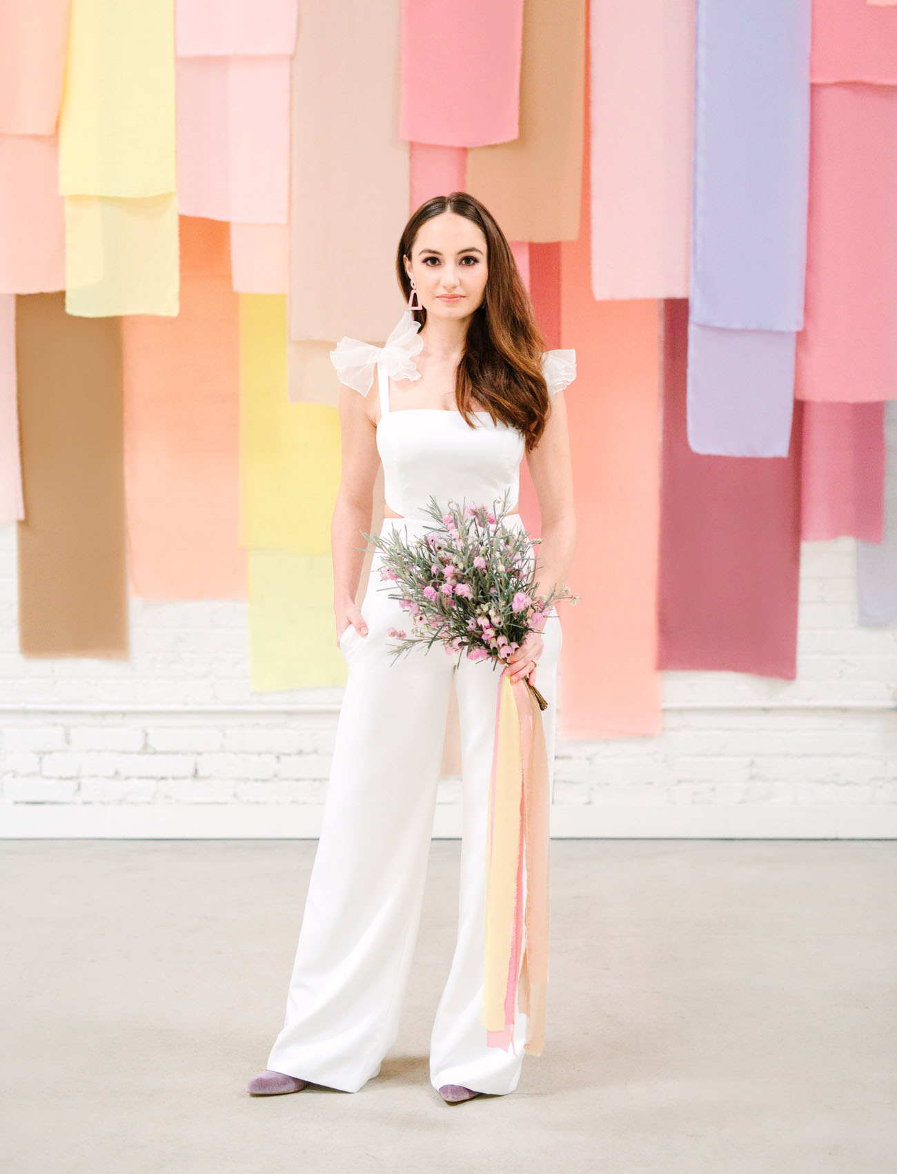 white wedding jumpsuit