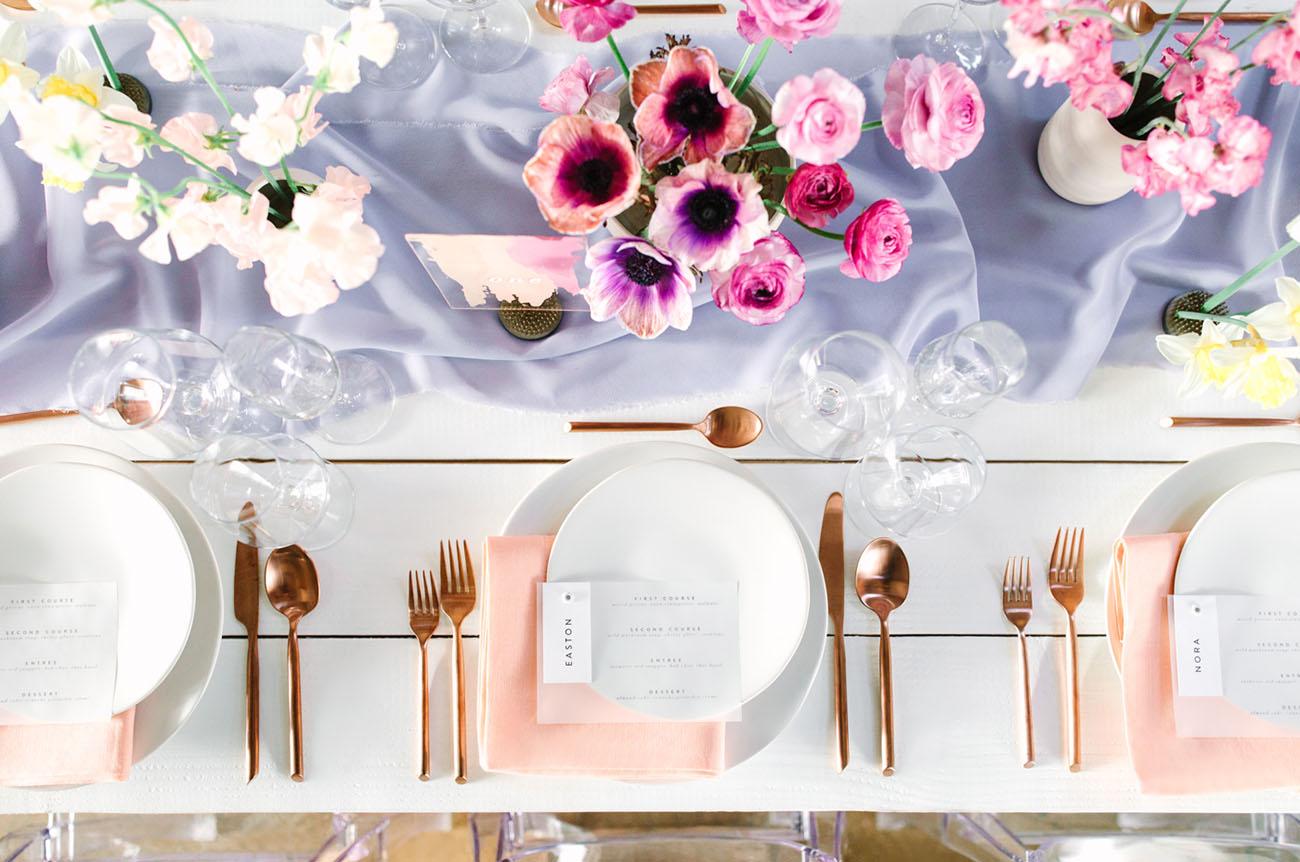 pink anemone centerpiece