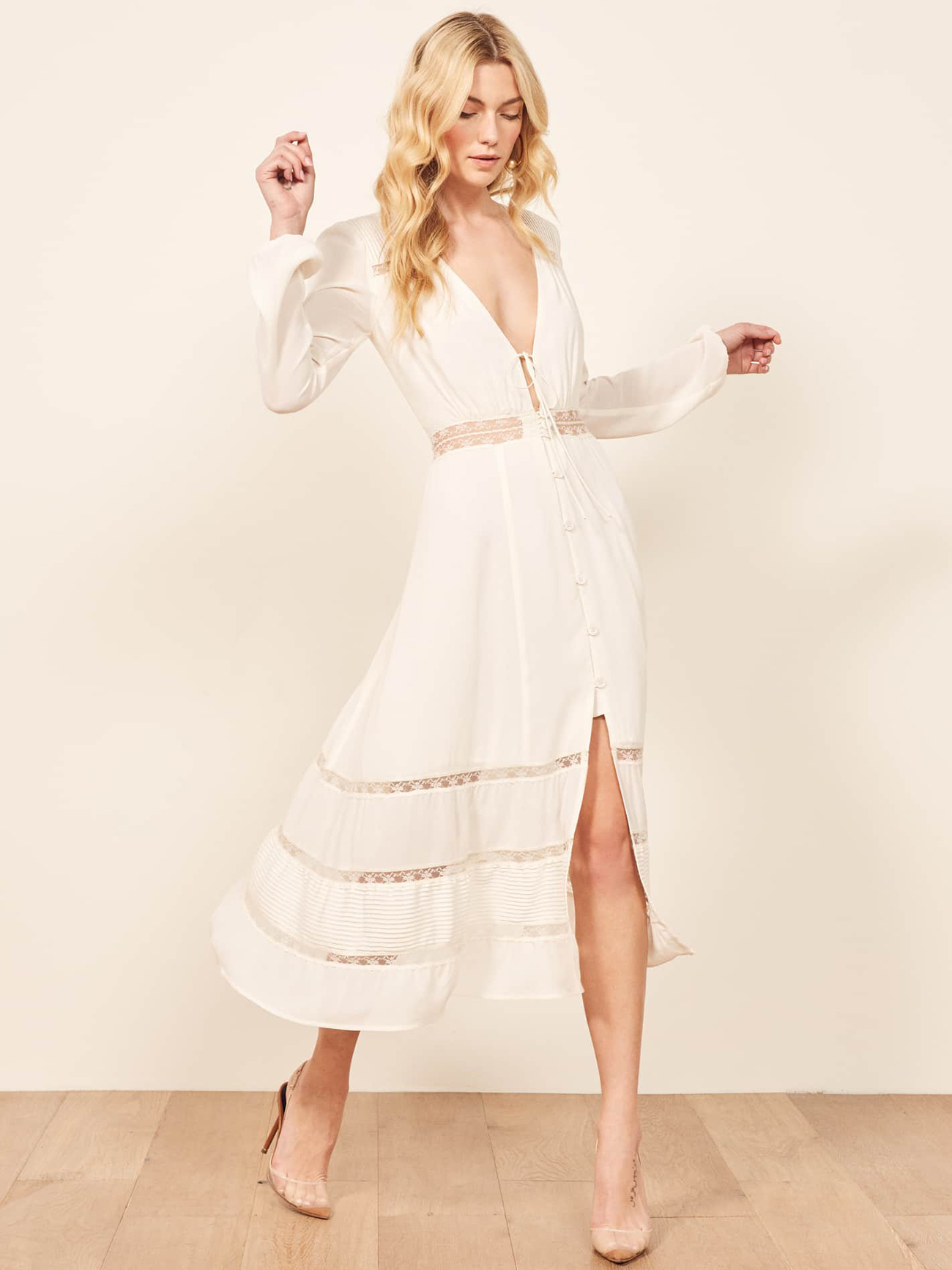 Reformation Modern Minimalistic Wedding Dress Under $800 Budget