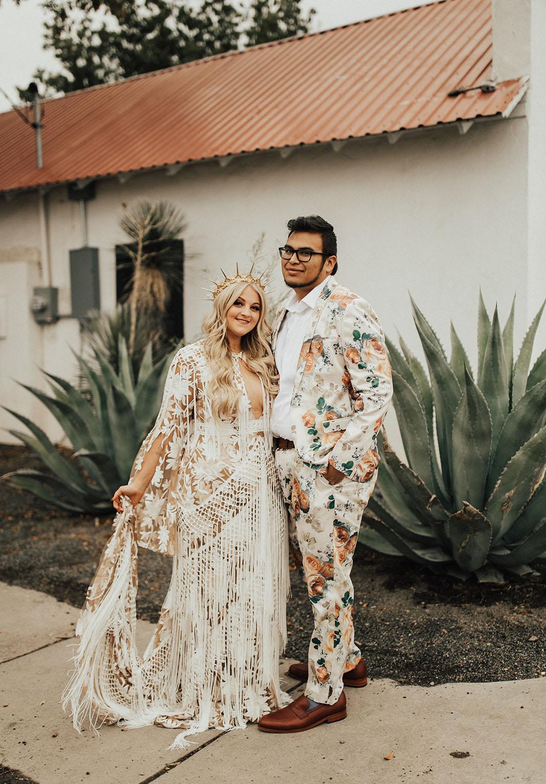 floral groom suit