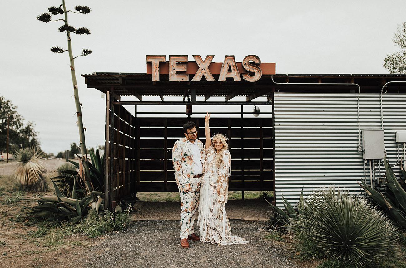 Festive Marfa Texas Wedding