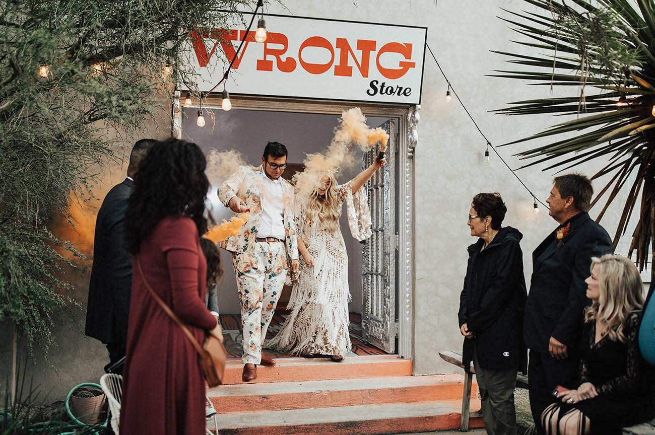 smoke bomb exit