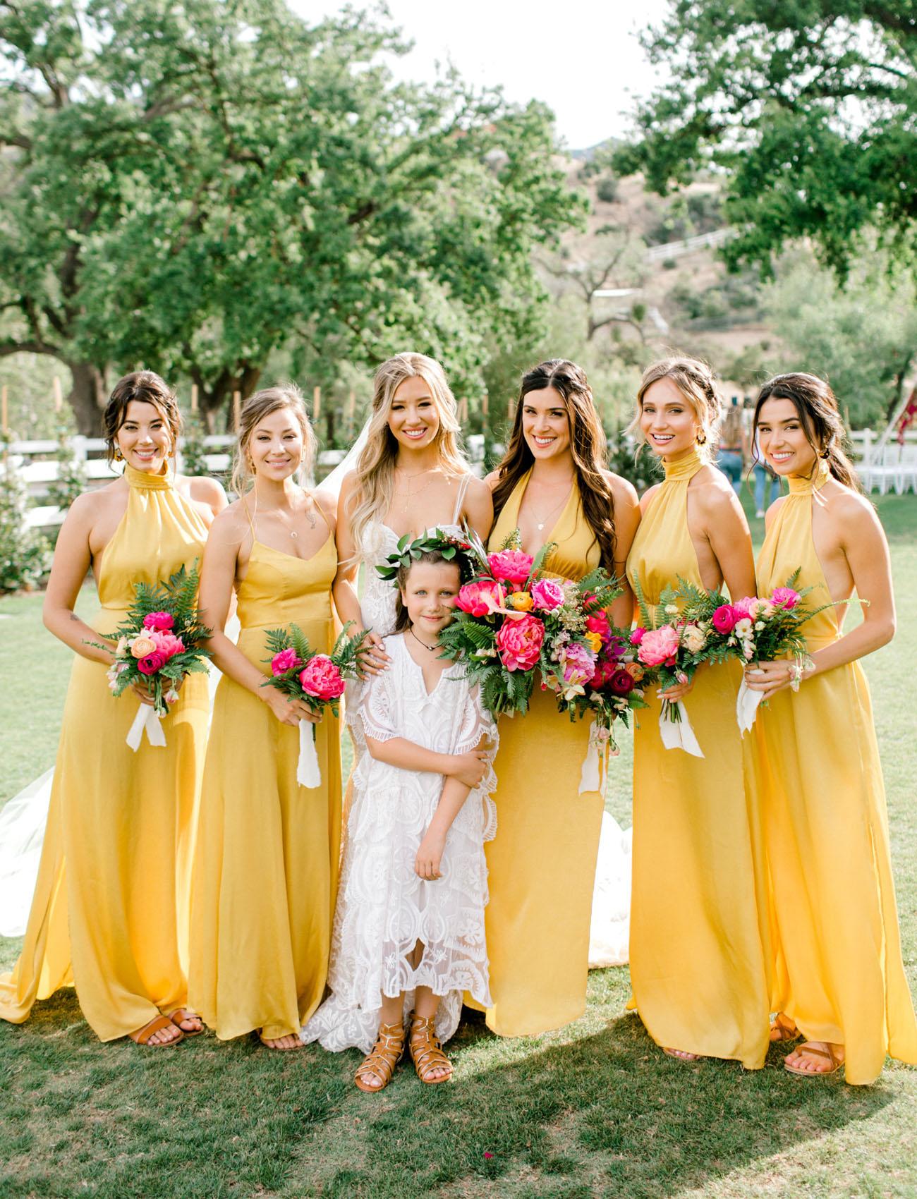 mustard bridesmaids
