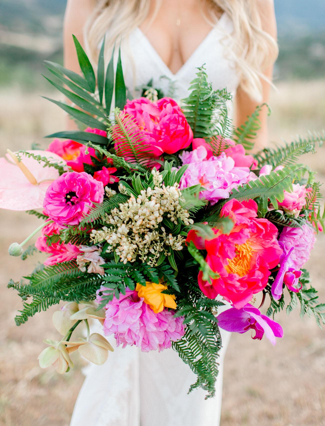 hot pink bridal bouquet
