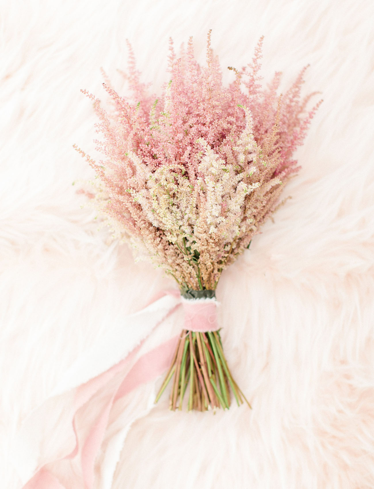 pink monochrome bouquet
